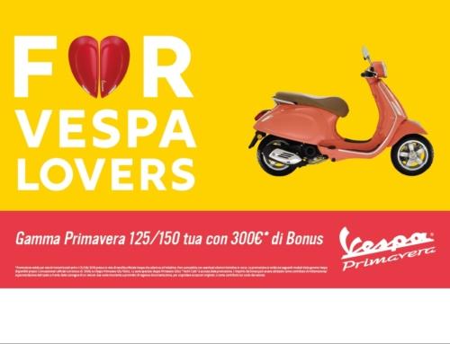 Vivi l'estate con Vespa Gamma Vespa 125/150 tua con 300 euro di bonus